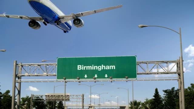 Flugzeug-Landung-Birmingham