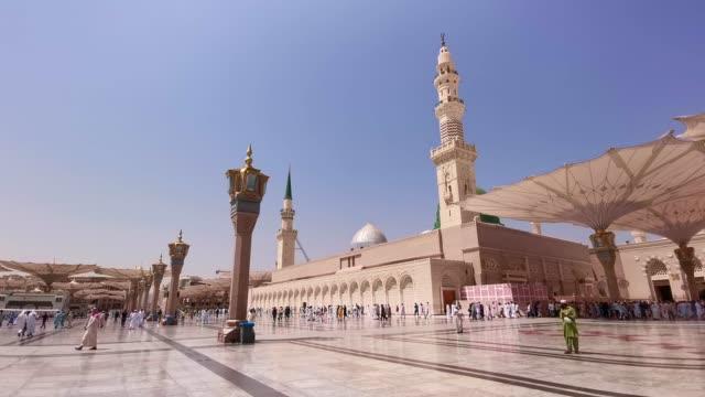 Imágenes-de-clips-del-edificio-exterior-de-la-Mezquita-de-Nabawi-en-Medina-(Madinah)