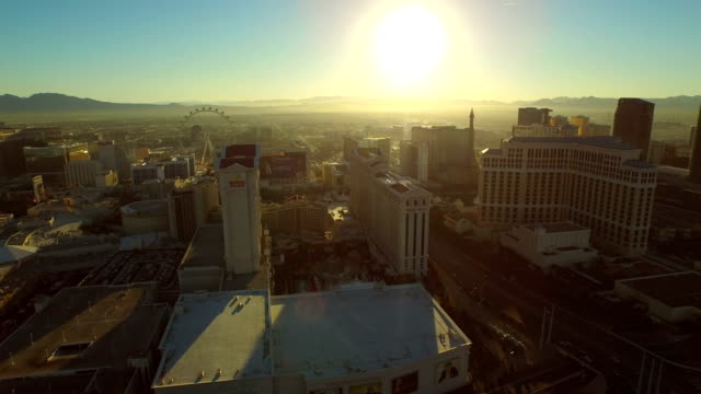Las-Vegas-Aerial-Cityscape-Strip-Sunrise