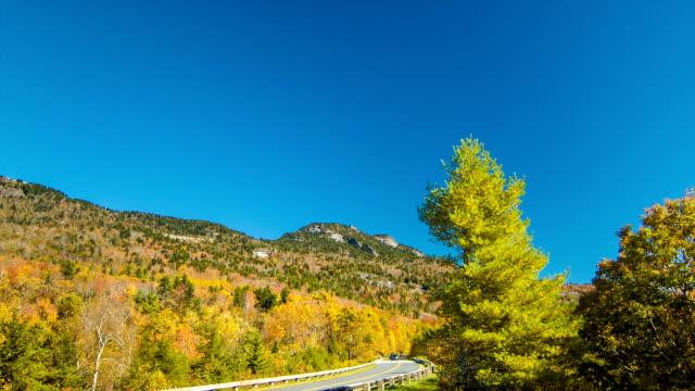 Inclinación-de-a-pie-de-las-montañas-Blue-Ridge-Parkway-y