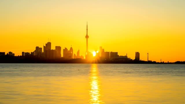 Stadt-Toronto-Sunrise-Time-Lapse-Clear-Tag-4K-1080P