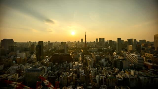 day-to-night-sunset-scene-at-Tokyo-city