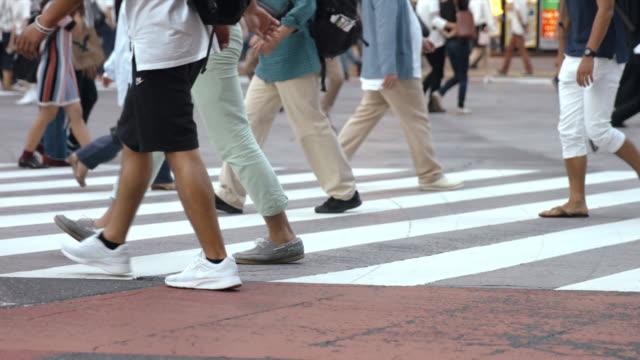 People-walking-on-the-crosswalk-(Slow-Motion-Video)-Shibuya-in-Summer