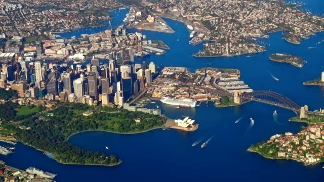 Aerial-Sydney-Harbor-Bridge-Australia