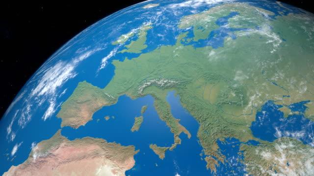 Continente-de-Europa-en-la-tierra-vista-aérea-desde-el-espacio-exterior