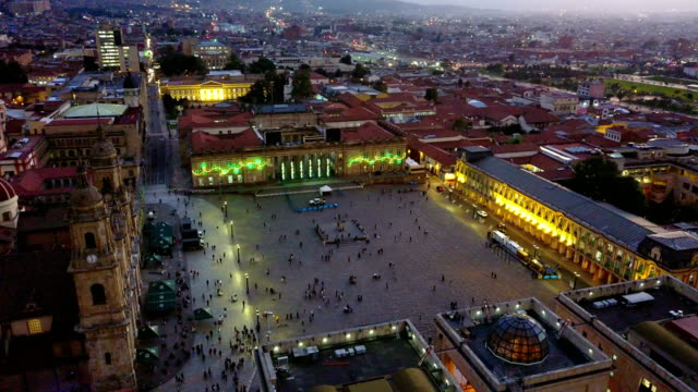 Aerial/Drone-View-of-the-Plaza-de-Bolivar-La-Candelaria-Bogotá-Colombia-6