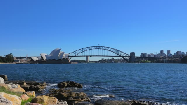 Panoramic-view-of-Sydney-Harbour-from-Mrs-Macquarie-s-Point-in-4k