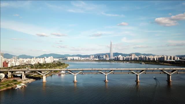 Antenne-Hyperlapse-Video-der-Stadt-Seoul-South-Korea-Timelapse-4k