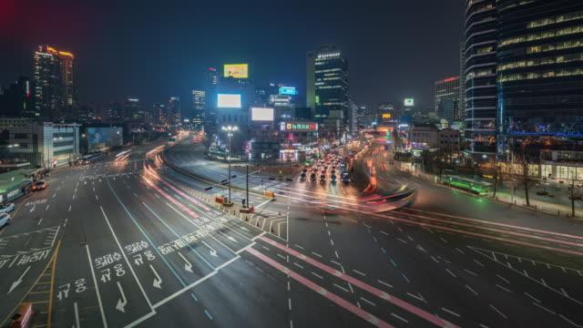 Seoul-Korea-Timelapse---Wide-Angle-of-Seoul-s-city-traffic-at-night
