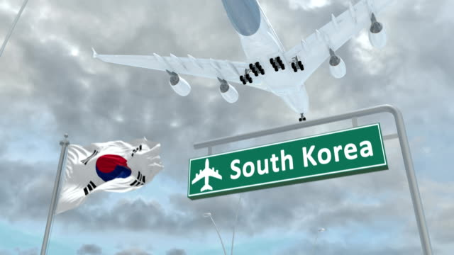 South-Korea-approach-of-the-aircraft-to-land