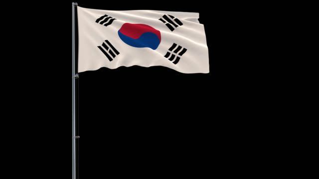 Flag-of-South-Korea-4k-prores-4444-footage-with-alpha-transparency