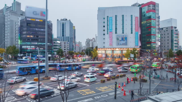 4k-time-lapse-Twilight-Seoul-City