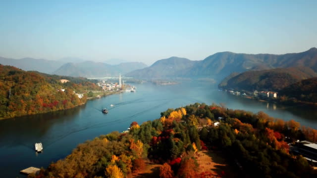 Luftbild-Herbst-Nami-Insel-Südkorea