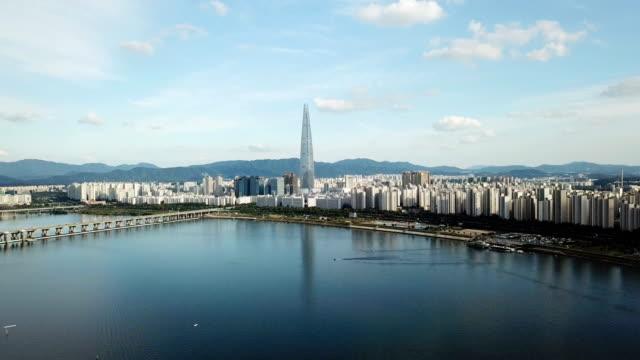 Aerial-view-of-Seoul-City-skyline-South-Korea-