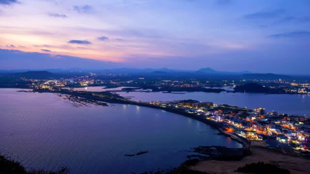 Timelapse-of-Seongsan-Ilchulbong-at-Night-Jeju-Island-South-Korea-4K-Time-lapse