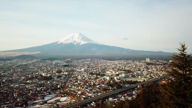 Aerial-view-of-Fuji-Mountain-Kawaguchiko-Fujiyoshida-Japan