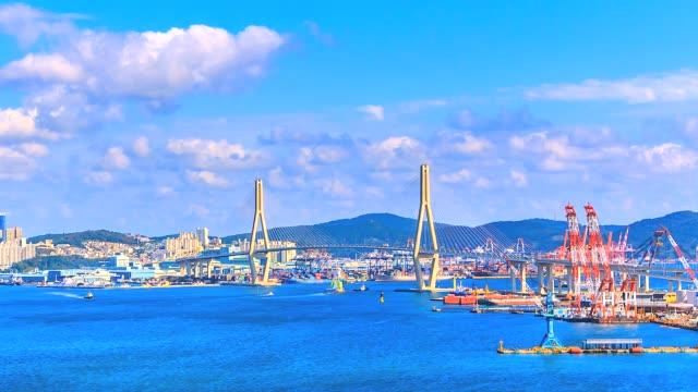 4K-Time-lapse-bridge-and-port-at-Busan-City-of-South-Korea