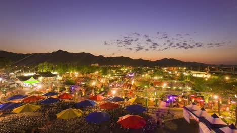Rose-festival-sunset-time-lapse-in-Korea