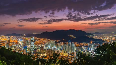 4K-Time-lapse-day-to-night-Aerial-View-of-Busan-city-cityscape-South-Korea