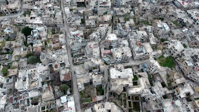 Aerial-view-of-ruined-homs-in-Syria