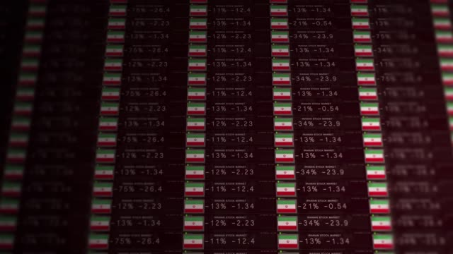 Stock-Market-Ticker-of-a-failing-economy---Iran-version