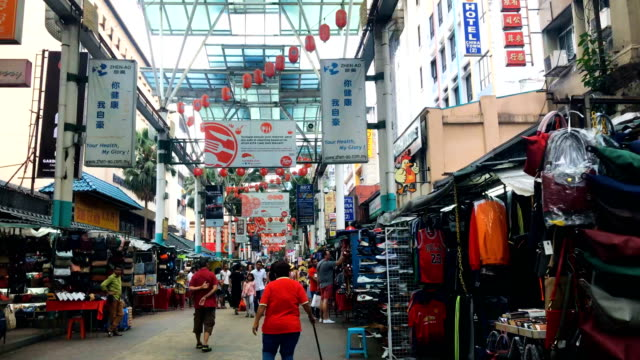 Hyper-lapse-of-Petaling-Street(China-town)-in-Kuala-Lumpur-