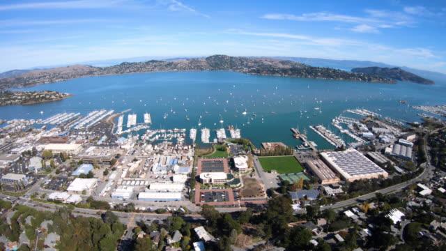 Sausalito-California-Costanera-antena-vista-Richardson-Bay-Harbor
