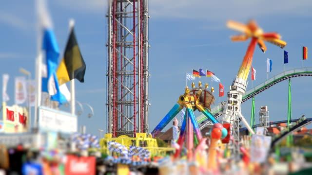 Oktoberfest-München-mit-einem-Tilt-Shift-Effekt