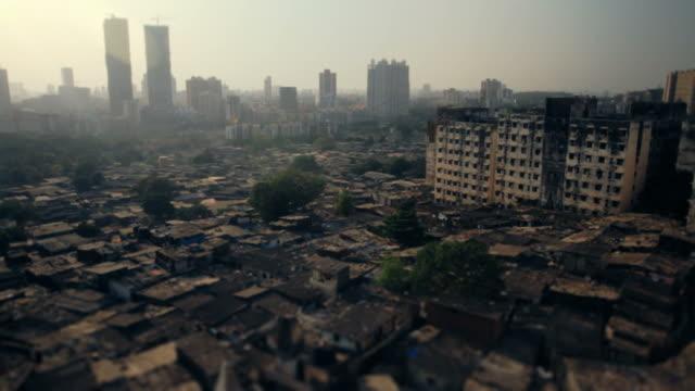 Mumbai-slum-mit-einem-tilt-shift-Effekt-