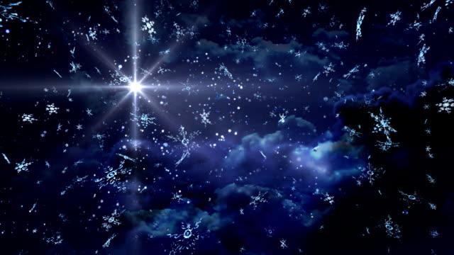 Blau-mit-Sternen-und-Schneeflocken-Aufenthalt