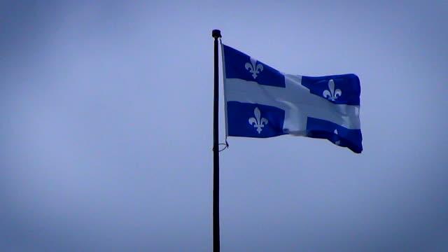 Provinzielle-Flagge-von-Québec-In-Kanada-