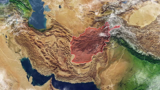 Map-of-Afghanistan-and-borders-physical-map-Middle-East-Arabian-peninsula-map-with-reliefs-and-mountains