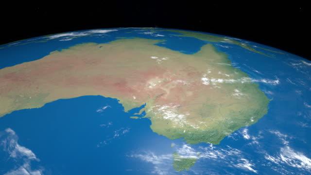 Australia-en-planeta-tierra-girando-desde-el-espacio-exterior
