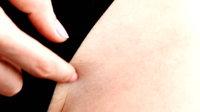 Not-shaved-close-up-of-pubic-hair-on-the-female-body-in-lingerie-Women-s-hands-you-scratch-your-pubes-