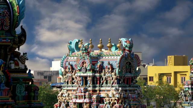 Templo-hindú-Meenakshi-en-Madurai-Tamil-Nadu-India-del-Sur