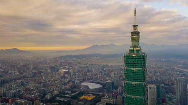 nublado-atardecer-taipei-ciudad-famosa-superior-de-la-torre-antena-paisaje-panorama-4k-Taiwán