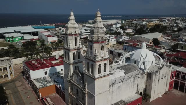 Catedral-de-Campeche-Vista-aérea-de-la-Plaza-de-la-independencia-Campeche-México