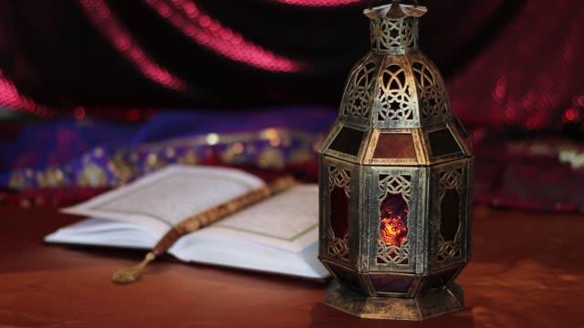 Eid-Mubarak-Candle-flicker-in-the-lamp