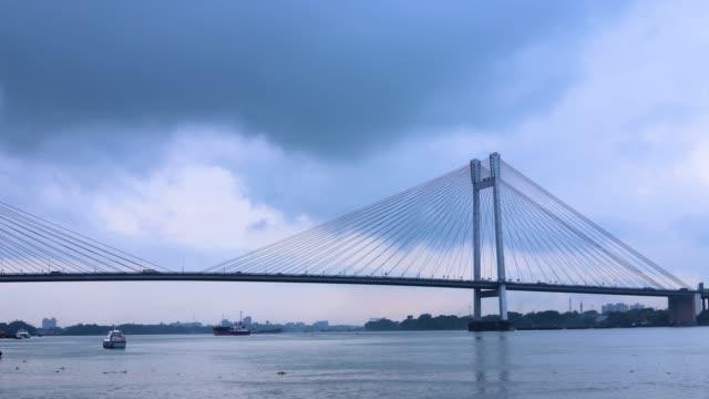 Longest-Cable-Bridge-Vidyasagar-setu-or-Hooghly-Bridge-in-Timelapse