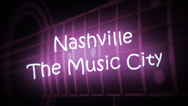 Un-letrero-de-neón-morado-NASHVILLE-THE-MUSIC-CITY-animado-con-una-guitarra-de-fondo