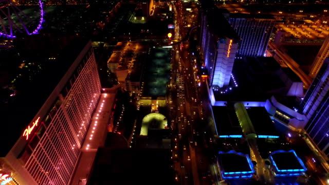 Vista-aérea-de-un-paisaje-de-la-ciudad-de-Las-Vegas-Strip-noche