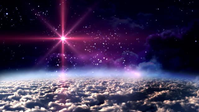 Raum-Nacht-Roter-Stern
