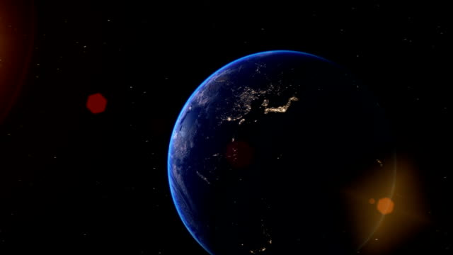 Realistic-Earth-Globe-Zoom-and-Dock-on-West-Africa