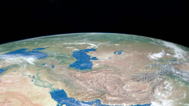 Mar-Caspio-en-el-planeta-tierra-vista-aérea-desde-el-espacio-exterior