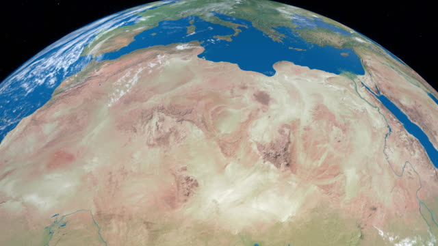 Sahara-desert-in-planet-earth-aerial-view-from-outer-space