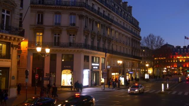 france-evening-illumination-paris-famous-double-decker-bus-ride-street-pov-panorama-4k
