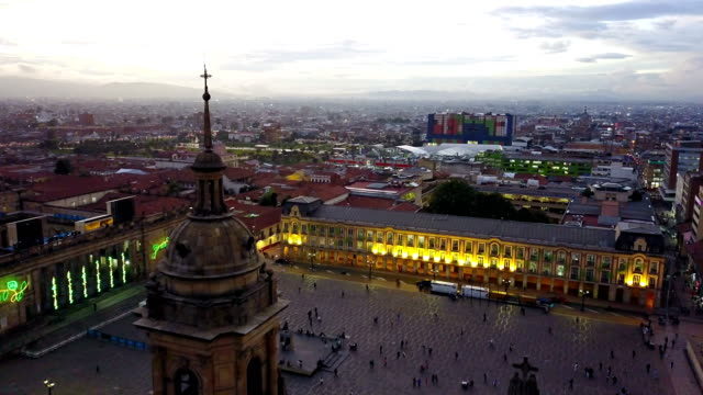 Aerial/Drone-View-of-the-Plaza-de-Bolivar-La-Candelaria-Bogotá-Colombia-4