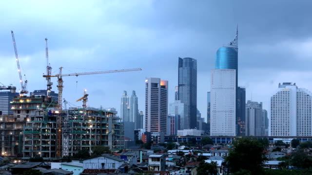Timelapse-del-skyline-de-Jakarta