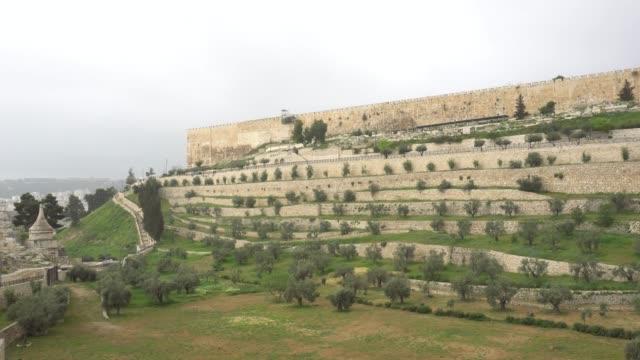 Jerusalén-Panorama-de-la-pared-de-la-fortaleza-de-la-ciudad-vieja