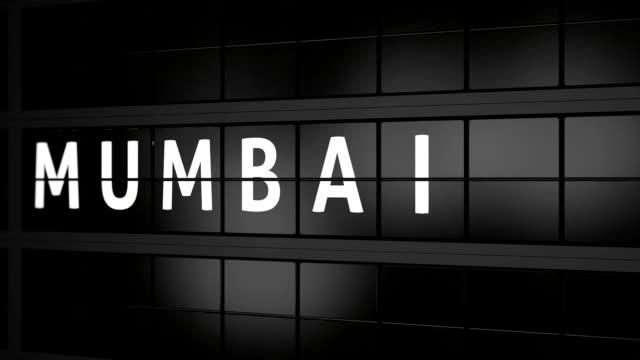 3D-Animation-gerendert-Analoge-Informationen-Anzeige-Flugtafel-mit-der-Ankunft-von-Mumbai-Indien